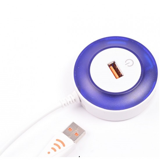 Adaptor USB cu 4 porturi, cu lumina LED cu aprindere Touch