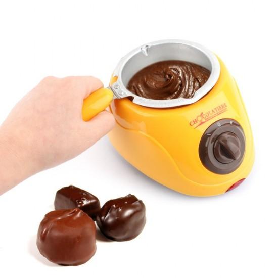 Aparat electric Chocolatiere pentru topit ciocolata si set fondue