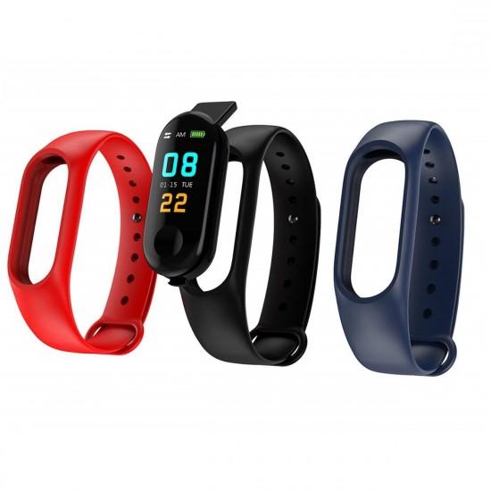 Bratara Smart Fitness, cu functie de monitorizare puls, tensiune si pedometru