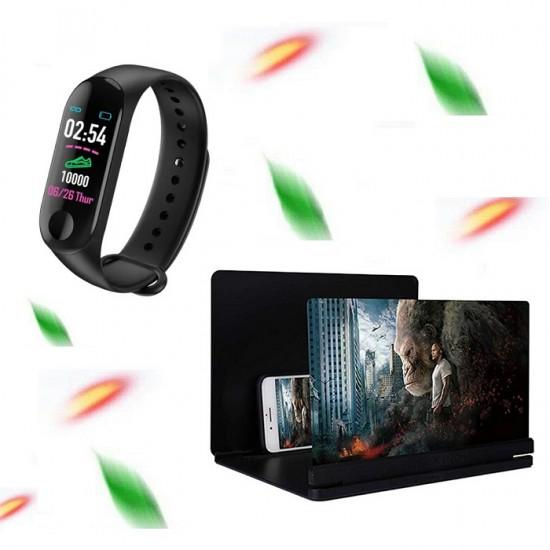 Bratara inteligenta cu functie de monitorizare + Lupa pentru telefon