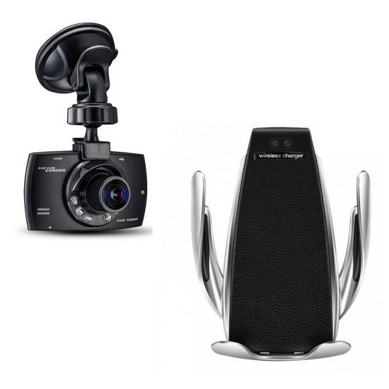 Camera auto full HD + Suport automat cu incarcare wireless