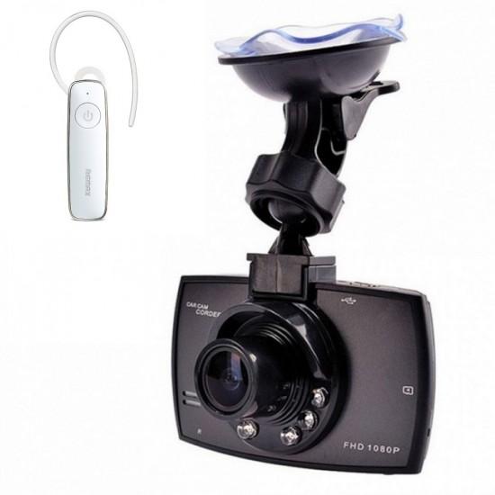 Camera auto pentru monitorizare, full HD + BONUS casca Handsfree Bluetooth