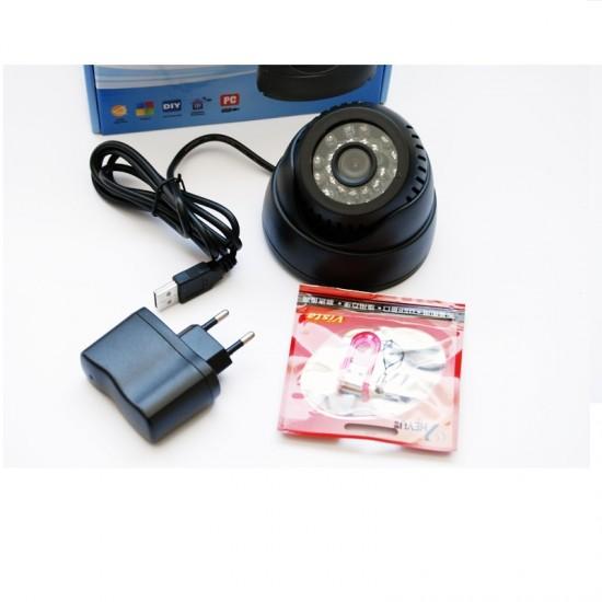 Camera de supraveghere pentru interior, stocare  pe cardSD, functie NightVision
