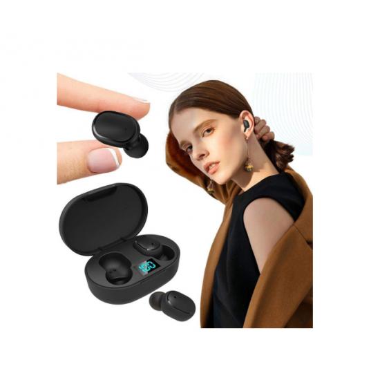 Casti wireless-k28, in ear, cu dock de incarcare portabil