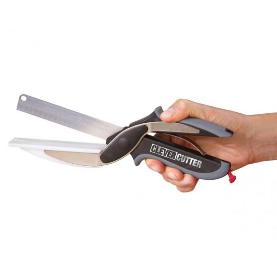 Cutit multifunctional  2in1, cu suport de taiere integrat
