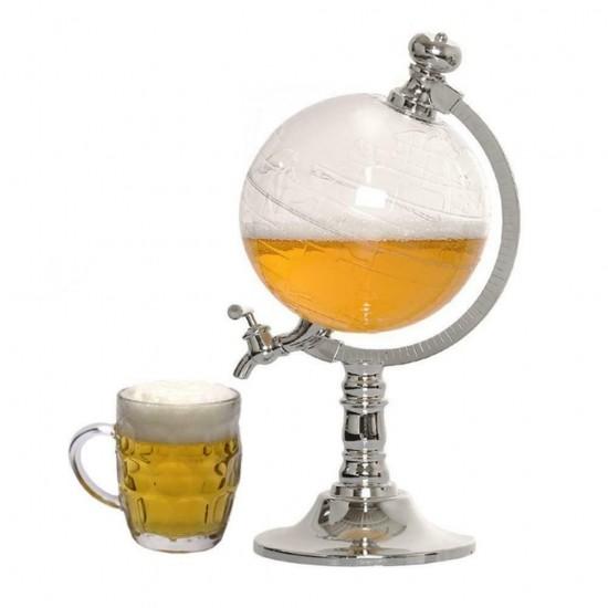 Dozator in forma de Glob Pamantesc, pentru orice tip de bauturi, 3,5 L