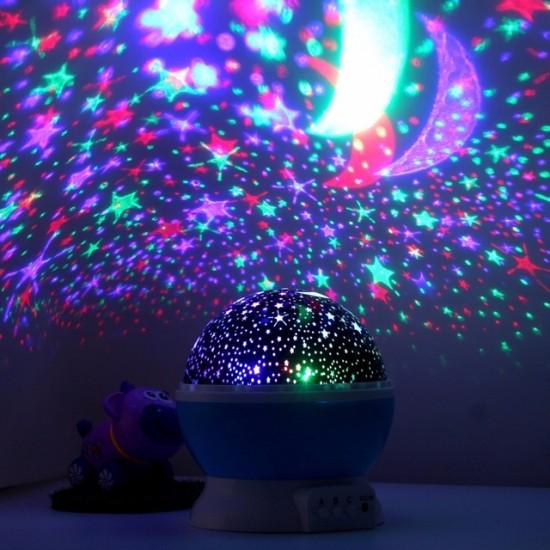 Lampa de Veghe Star Master, Proiector rotativ cu stele si luna