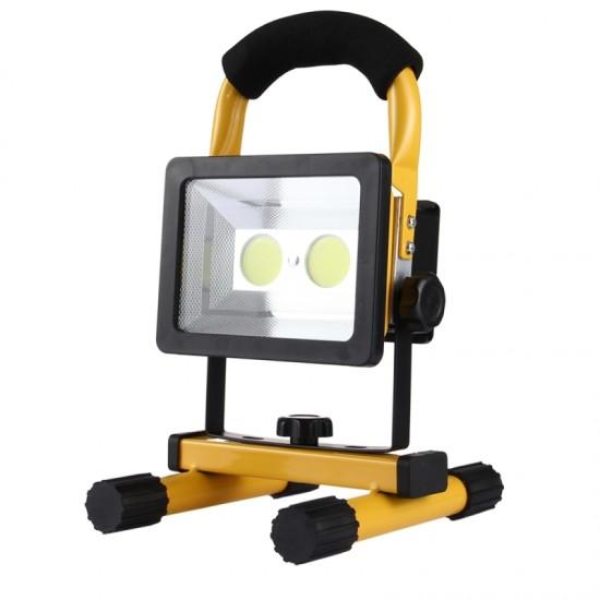 Lampa de lucru tip proiector cu 2 LED-uri , accumulator inclus si functie Powerbank, 30W