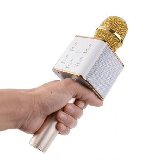 Microfon wireless cu boxa incorporata si egalizator