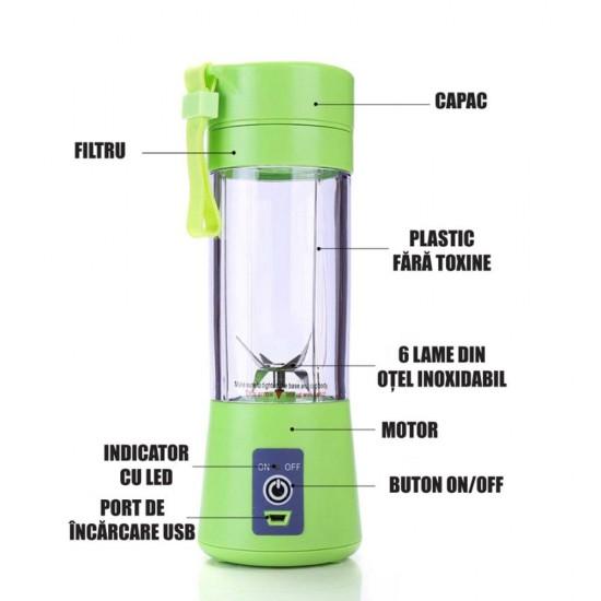 Mini Blender cu usb si acumulator reincarcabil