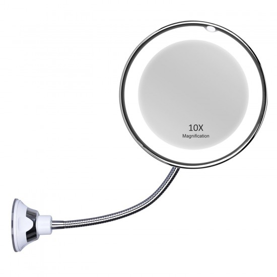 Oglinda cosmetica cu Led, Ultra Flexible Mirror, factor marire 10x