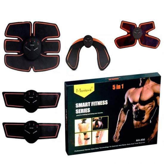 Pachet 5in1 de antrenament electrostimulare, pentru tonifiere si intretinerea musculara