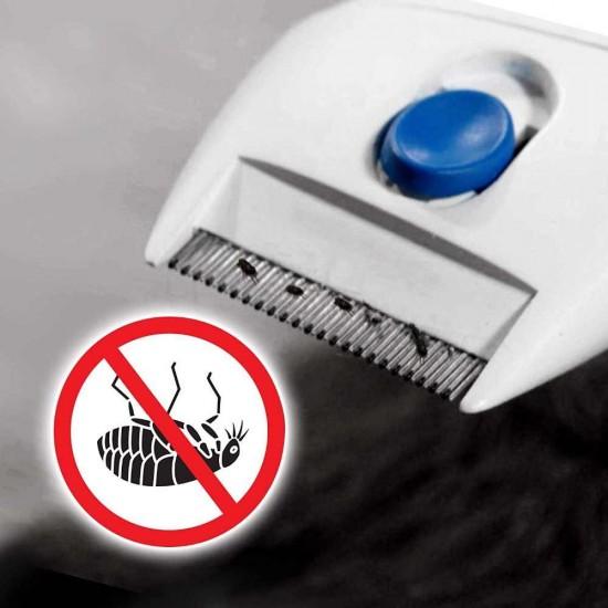 Perie-aspirator Flea Doctor impotriva puricilor si parazitilor de piele, pentru caini si pisici