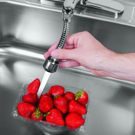 Prelungitor flexibil universal pentru robinet Turbo Flex, rotatie 360 grade