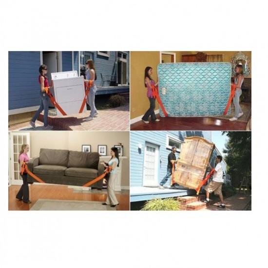 Set 2 curele pentru ridicarea si transportul mobilierului, greutate maxima 900kg
