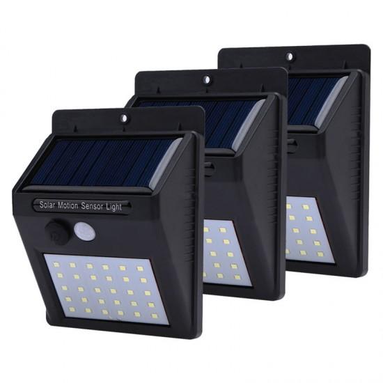 Set 3 Lampi cu incarcare solara si senzor de miscare