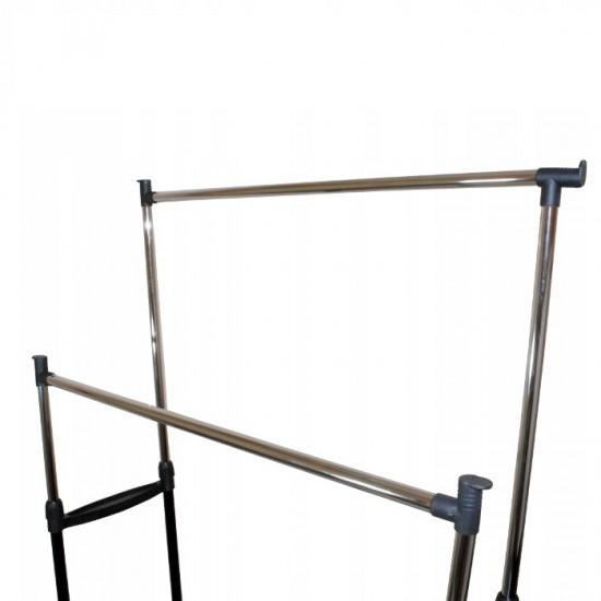 Suport metalic dublu pentru imbracaminte si Incaltaminte, inaltime reglabila