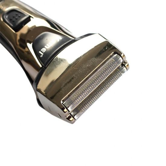 Trimmer electric 2in1 pentru par si barba, cu capat suplimetar cu lama dubla, Kemei-KM1611