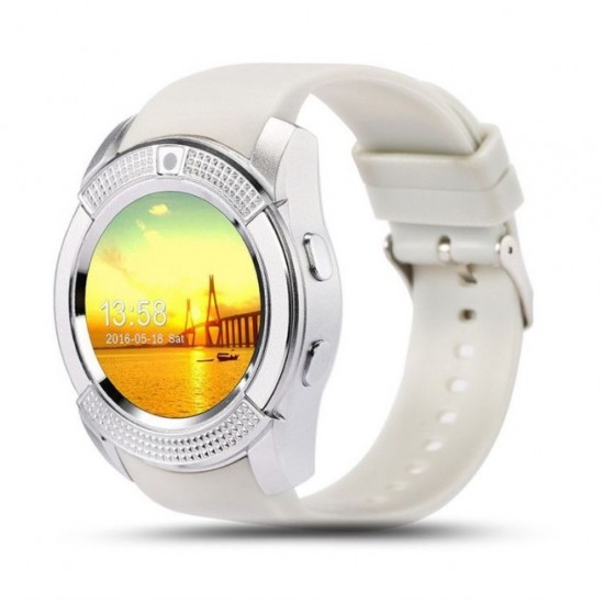 Smartwatch cu touchscreen, functie apelare, SIM, Port MicroSd, camera, bluetooth