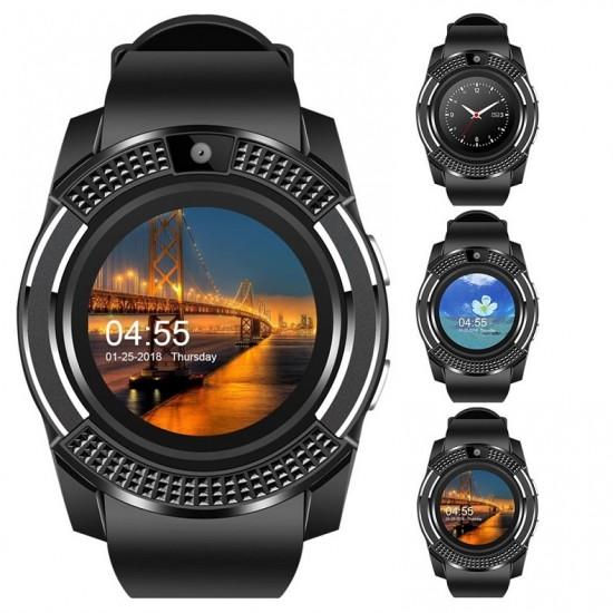 Smartwatch cu touchscreen, functie apelare, SIM, Port MicroSd, camera, bluetooth